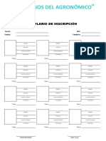 Formulario de InscriPciones EX ALUMNOS SALESIANOS