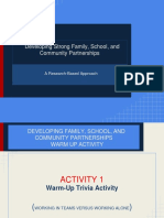 Updated Development of School Family and Community Partnership Feb 2015