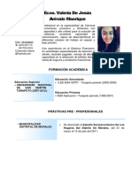 Curriculo Valeria Arevalo Manrique