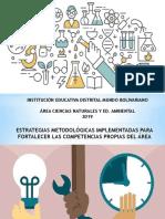 Estrategias Ciencias Naturales Para Fortalecer Procesos. 2019