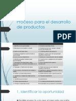 Proceso Para El Desarrollo de Productos