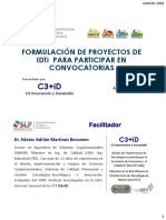 Presentacion Taller C3iD - COPOCYT - Proyectos IDTi