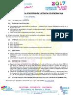 Requisitos Para Solicitud de Licencia de Generacion 2017