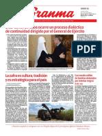 Diario Granma. 31 de octubre de 2019.