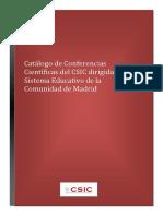 Catalogo Conferencias CSIC - 2019-2021