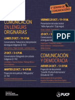 Programa II Semana de Comunicaciones