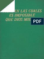 1965 (1965) - Cosas en Las Cuales Es Imposible Que Dios Mienta