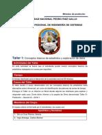 Taller Nº 1 - Conceptos Básicos de Estadística y Exploración de Datos- 2019-I
