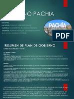 Plan de Gobierno Pachia