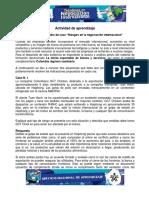 Actividad de Aprendizaje 9 Riesgos en La Negociación Internacional