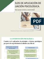 Protocolos de Aplicación de La Evaluación Psicológica