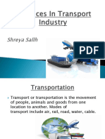 advances in the transport industry