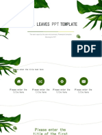 Small Clear Leaf PPT Template
