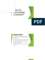 Ways of Explaining Concept