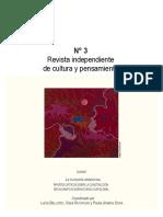 Revista Monograma 3 (Dossier - La Filosofía Argentina)