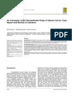 An Unusually Large Fibroepithelial Polyp of Uterine Cervixx
