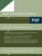 Basic of IP Routing Explained