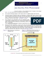 HOW TO LAMINATE DRY FILM PHOTORESIST