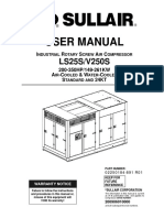 USER MANUAL INDUSTRIAL ROTARY SCREW AIR COMPRESSOR LS25S/V250S