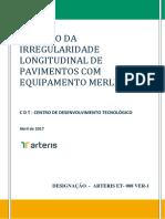 ME Medição Da Irregularidade Longitudinal de Pavimentos Com Equipamento MERLIN