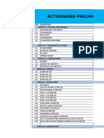 Listado de Items Programacion