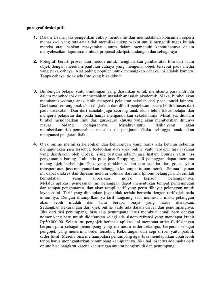 Paparan Deskriptif Argumentasi Naratif Persuasi Pkk Xii