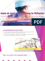 Civil Engineering in fisheries and aquaculture