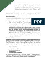 Análisis de La Oferta