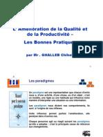 Amelioration de La Qualite Et de La Productivite