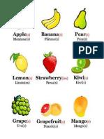 Frutas Ingles Español