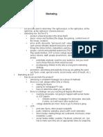 Marketing Class Notes