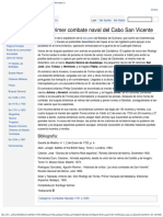 1719 Primer Combate Naval Del Cabo San Vicente