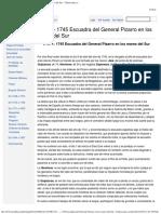 1741 — 1745 Escuadra del General Pizarro en los mares del Sur