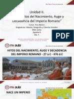 7B. Historia. . Hitos Del Nacimiento, Auge y Decadencia Del Imperio Romano 5