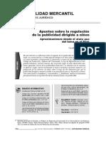 Apuntes sobre la regulación de la publicidad dirigida a niños. Aproximaciones desde el statu quo del tema en el Perú