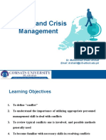 Conflict and Crisis Management