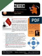 Exactech Newsletter APRIL 2019