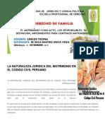 La Naturaleza Juridica Del Matrimonio en El Codigo Civil Peruano