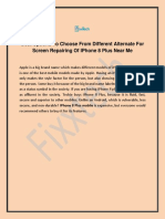 Best Options to Choose From Different Alternate for Screen Repairing of iPhone 8 Plus Near Me