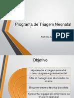 Programa de Triagem Neonatal