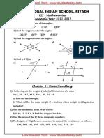 CBSE Clas 7 Maths Worksheet - Data Handling (3)