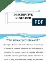 ER 3 Descriptive Research