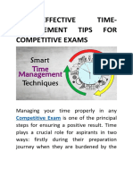 5 Effective Time-management Tips for Competitive Exams