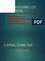 Lot Acquisition Taxes