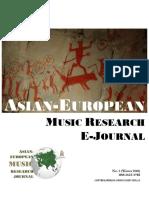 Asian European Music E Journal No 2