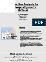 Competitive Analysis for the Hospitality Sector India (Hotels)