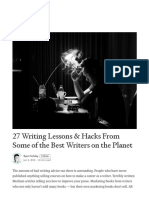 27 Writing Lessons & Hacks From Some of the Best Writers on the Planet