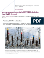 Clearance Requirements in EHV AIS Substation