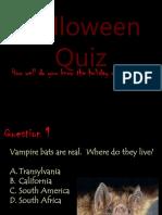 Halloween history and quiz