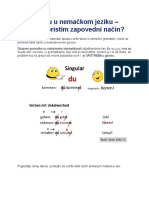Imperativ u u Nemačkom Jeziku